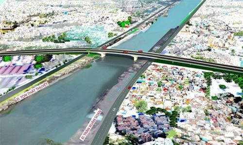 1.250 tỷ đồng xây cầu từ Nam Sài Gòn vào trung tâm